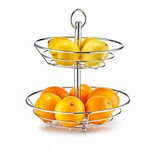 Obst Etagere Metall : zeller obst etagere 2 st ckig metall verchromt 26x29 cm ~ Whattoseeinmadrid.com Haus und Dekorationen