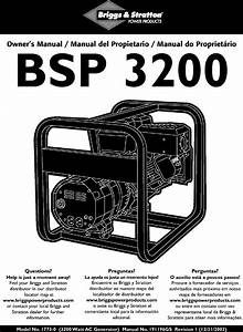 Briggs  U0026 Stratton 1773 0 User Manual 3 200 Watt Ac
