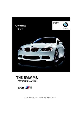 car owners manuals free downloads 2001 bmw m3 engine control download 2013 bmw m3 coupe owner s manual pdf 307 pages