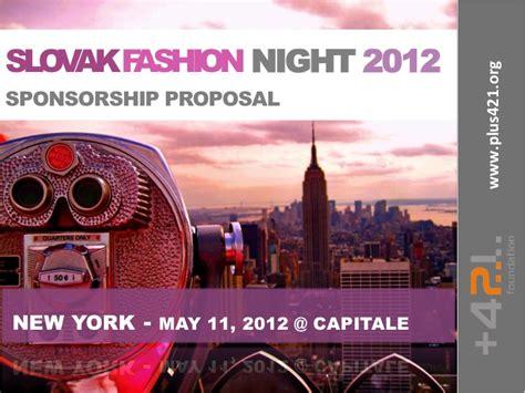 slovak fashion night  sponsorship proposal