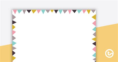 pastel flags landscape page border teaching resource