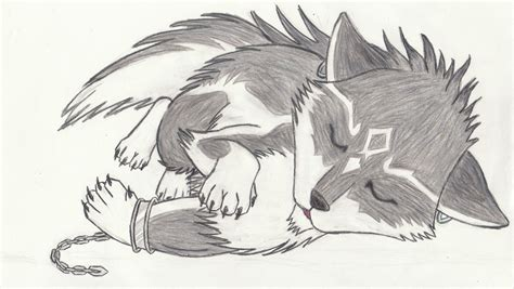 Sleeping Wolf By Songofalbiontri On Deviantart
