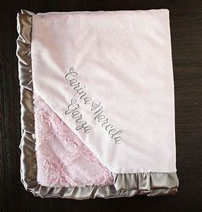 Minky Blanket baby girl personalized minky blanket Blanket