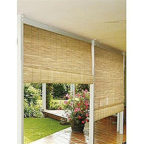 Roll Up Patio Shades by Bamboo Window Blinds Outdoor 72 Quot X 72 Quot Roll Up Roller Reed