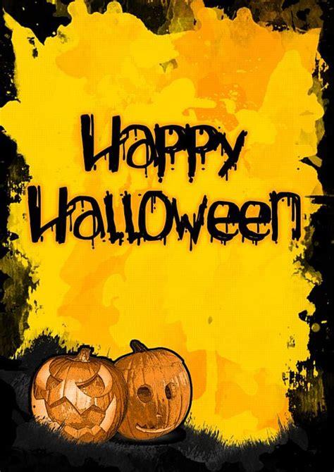 halloween pumpkin poster  orange scary spooky