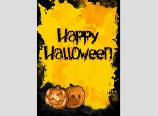 Halloween Pumpkin Poster A3, Orange, Scary, Spooky