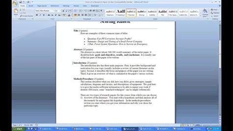 write  research paper   literature review