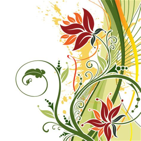 flower ornament art background  vector graphics