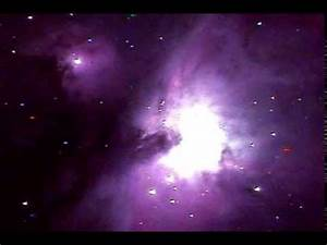 Orion Nebula live video through Telescope! - YouTube