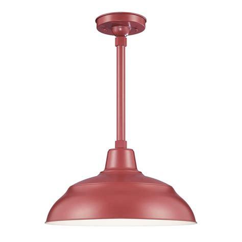 lowes barn light shop millennium lighting r series 17 in satin red barn mini warehouse pendant at lowes com