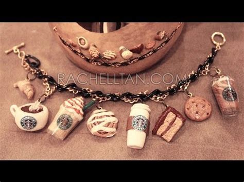 starbucks polymer clay charm bracelet diy youtube