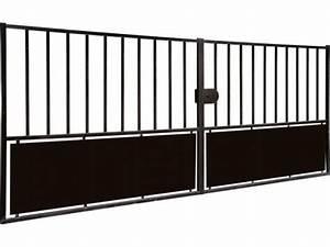 Portail Coulissant Bricoman : portail coulissant 4m bricoman portail fer bricoman ~ Dallasstarsshop.com Idées de Décoration