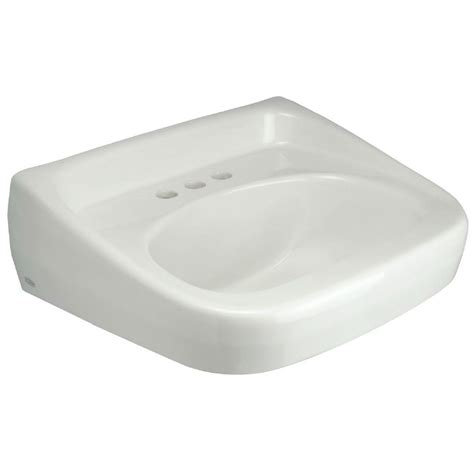 Home Depot Wall Mount Sink by Zurn Wall Mounted Bathroom Sink In White Z5344 The Home