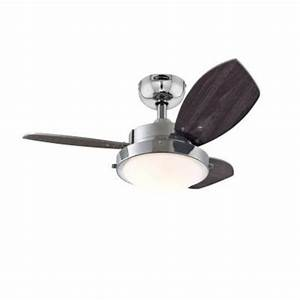 Westinghouse quot chrome three blade reversible ceiling fan with light