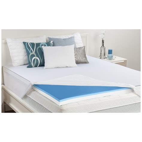 memory foam mattress topper sealy 174 3 quot memory foam topper 420774 mattress toppers at