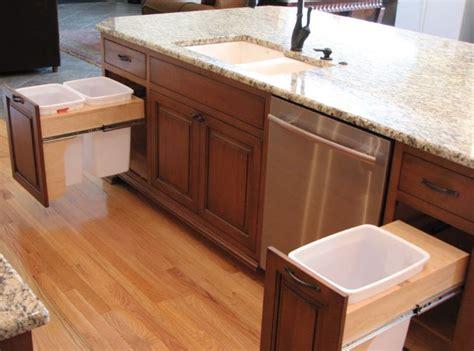 Galley Kitchen With Island Floor Plans - modern kitchen trash can ideas for good waste management