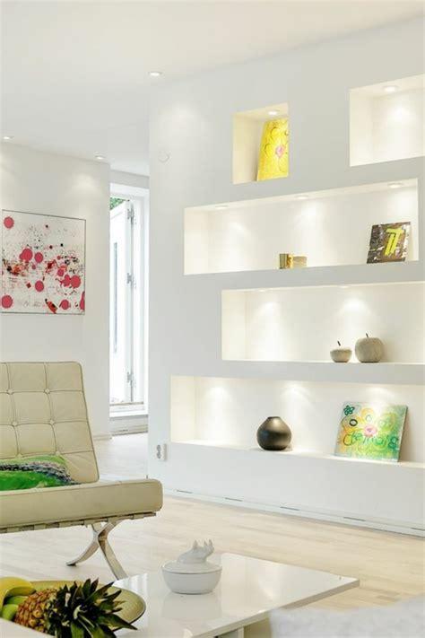Wandnische Mit Beleuchtung by Wanddeko Wohnzimmer Dekorative Wandnischen Archzine Net