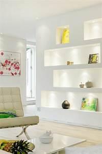 Wohnzimmer Mit Schräge : wanddeko wohnzimmer dekorative wandnischen ~ Lizthompson.info Haus und Dekorationen
