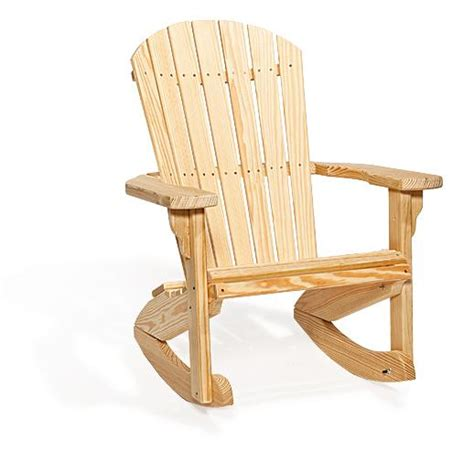 amish handcrafted pine wood fan back outdoor rocking chair