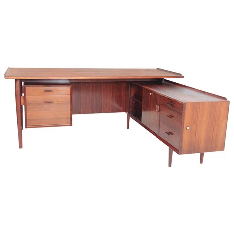 Sideboard Desk by Arne Vodder For Sibast L Shaped Executive Desk And