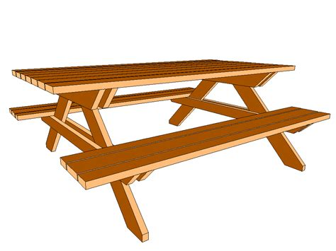 free picnic table plans free table woodworking plans clipart panda free