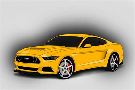 vector mustang side images ford mustang vector art