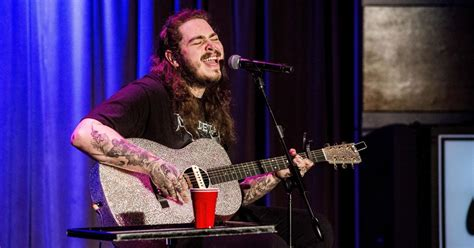 Watch Post Malone Grab A Guitar And Debut His New Moody