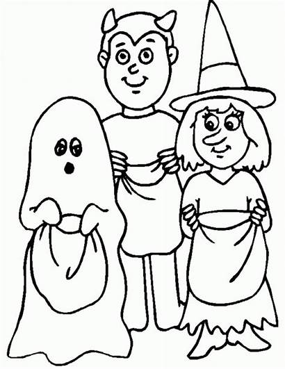 Halloween Costume Cliparts Clip Coloring Trick