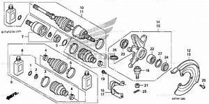 Honda Atv 2010 Oem Parts Diagram For Front Knuckle