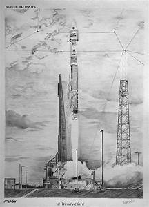 Original Drawing of MAVEN Launch is a Throwback to the ...