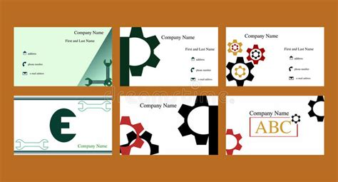 Business Cards With Mechanical Theme Stock Vector Business Cards Paper Box Blank Mini Same Day Brampton Matchbook Red Black And Gold Template Rymans Sample For Beauty Salon