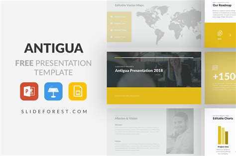 Free Keynote Templates Antigua Free Powerpoint Template Keynote Theme And