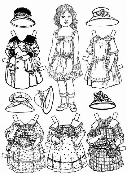 Coloring Paper Doll Pages Printable