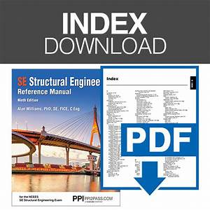 Ppi Structural Engineering Reference Manual  Ninth Edition