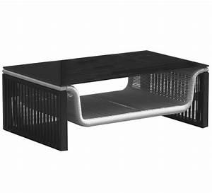 Table Basse Salon De Jardin : table basse de jardin 95cm noir et blanc 99 salon d 39 t ~ Teatrodelosmanantiales.com Idées de Décoration