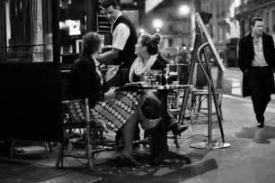 French Woman Cafe Paris at Night
