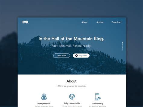 hmk website template sketch freebie