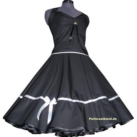 rockabilly kleid mit ärmeln rockabilly kleid schwarz petticoat mit farbakzent zur wahl