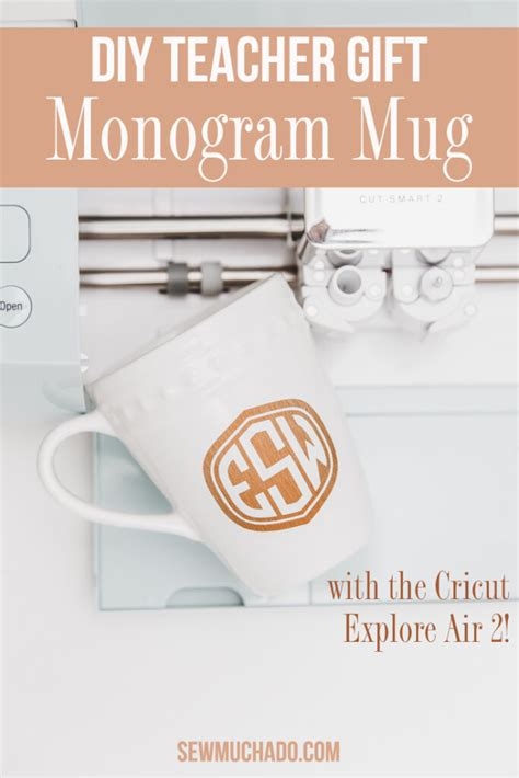 diy cricut teacher mug sew  ado