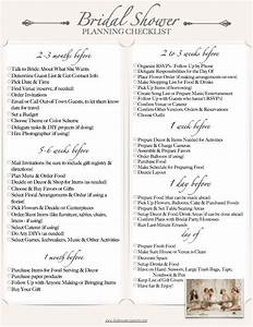 the perfect bridal shower checklist events games With planning a wedding shower checklist