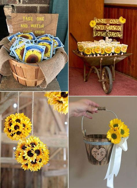 pretty  bright sunflower wedding ideas page