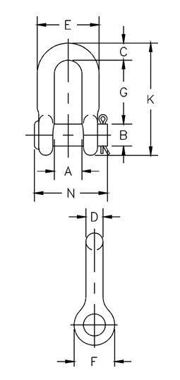 G-215 / S-215 Round Pin Chain Shackles,G-215 / S-215 Round