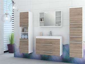 Meuble Salle De Bain : marylin ensemble vasque et trois meubles salle bain 2 coloris ~ Teatrodelosmanantiales.com Idées de Décoration