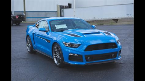 Grabber Blue Roush Ford Mustang 2017