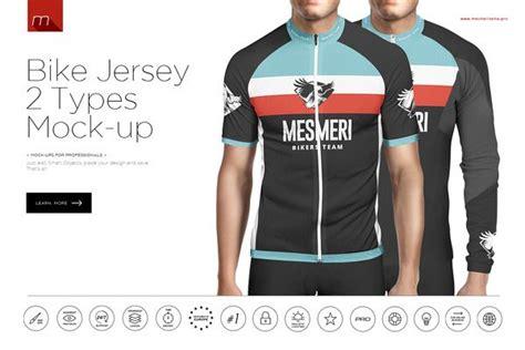 bike jersey  types mock  product mockup templates