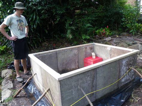making  raised garden bed  concrete pavers