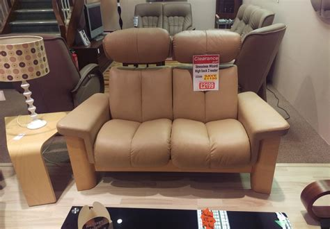 stressless wizard high back 2 seater sofa clearance