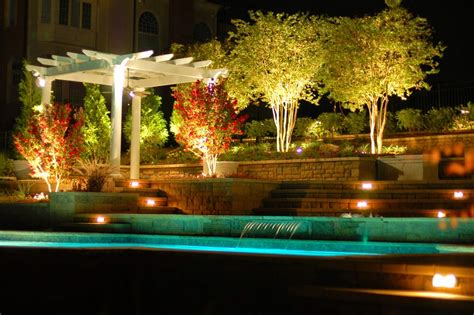 foundation dezin decor landscape garden water lights