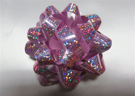 fancy pattern    holographic star ribbon bows