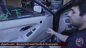 How To Fix Replace Install Broken Power Window Regulator Motor Honda Accord 1998 1999 2000 2001